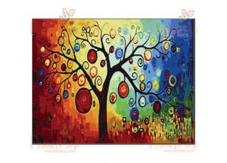 Раскраска по номерам. Дерево денежное (40х50)