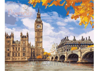 Раскраска по номерам. Осенний Лондон (40х50)