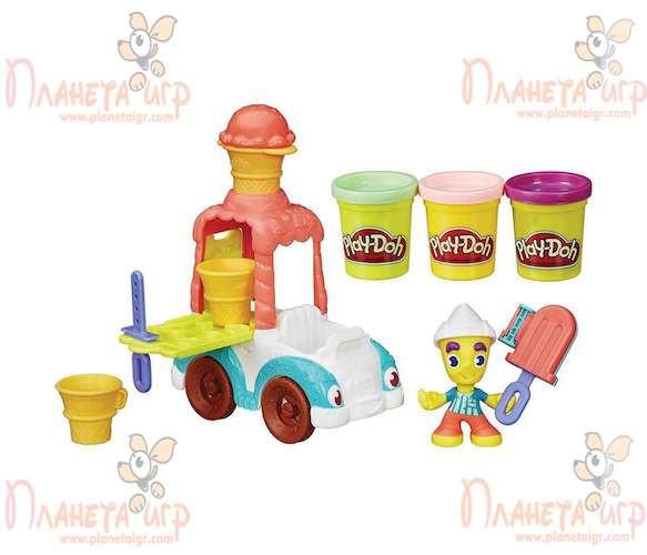 Набор для лепки Play-Doh Город. Грузовичок с мороженым