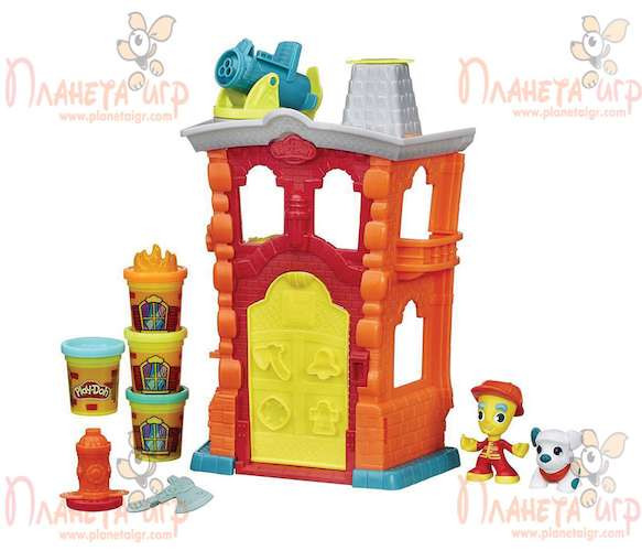 Набор для лепки Play-Doh Город. Пожарная станция
