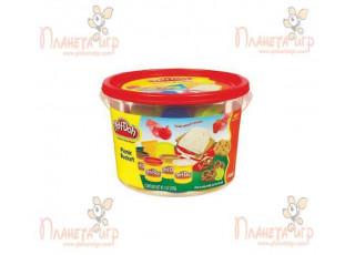 """Набор для лепки Play-Doh. Ведёрко с формочками """"Пикник"""""""