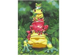 Раскраска по номерам Воздушные шары над заливом (40х50)
