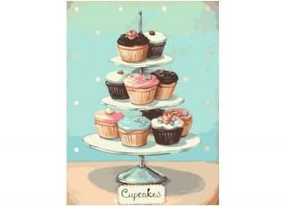 Раскраска по номерам. Звёздная ночь, Ван Гог (40х50)