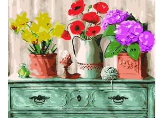 Раскраска по номерам Домашний уют (40х50)