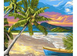 Раскраска по номерам Безлюдный остров (40х50)