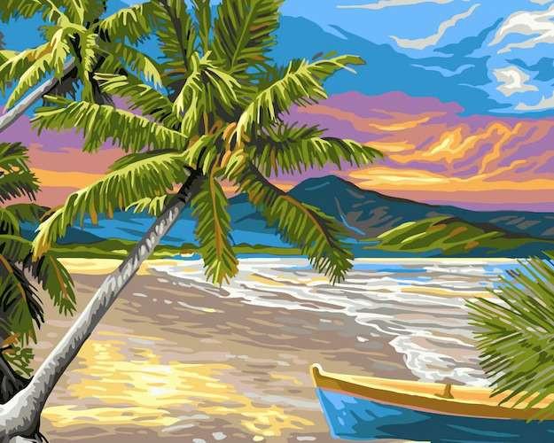раскраска по номерам безлюдный остров 40х50