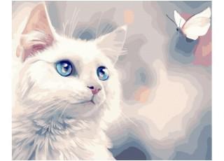Раскраска по номерам. Лодки в бухте (40х50)