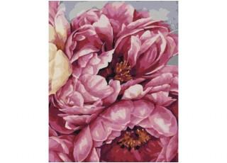 Раскраска по номерам. Пестрые воздушные шары (40х50)