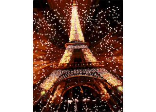 Раскраска по номерам. Ночь в Париже (40х50)