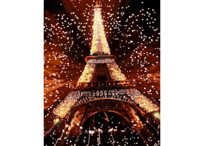Раскраска по номерам Ночь в Париже (40х50)
