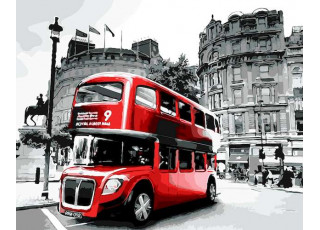 Раскраска по номерам. Лондон (40х50)