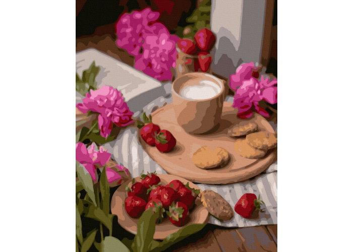 Раскраска по номерам. Королевский павлин (40х50)