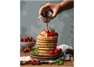 Раскраска по номерам. Огненный тигр (40х50)