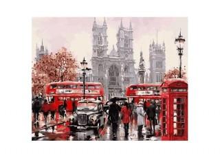Раскраска по номерам Сельский магазинчик (40х50)