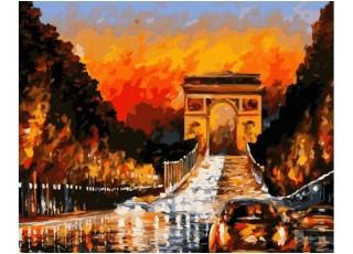 Раскраска по номерам Мелодия для скрипки (40х50)