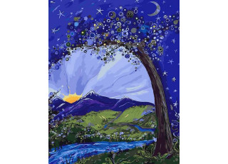 Раскраска по номерам Сказочная ночь (40х50)