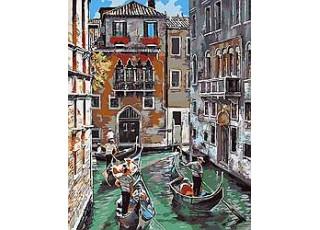 Раскраска по номерам Каналы Венеции (40х50)
