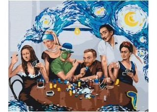 Раскраска по номерам Зеленоглазый кот (40х50)