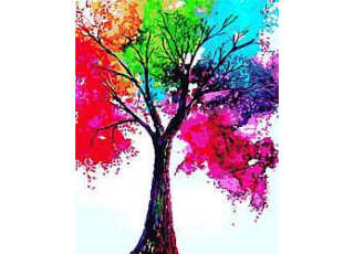 Раскраска по номерам Яркое дерево (40х50)
