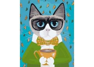 Раскраска по номерам За чашкой чая (40х50)