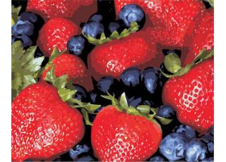 Раскраска по номерам Сочные ягоды (40х50)