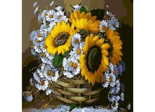 Раскраска по номерам Цветы для бабушки (40х40) (без коробки)