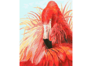 Раскраска по номерам Яркий фламинго (40х50)