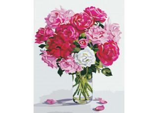Раскраска по номерам Оттенки розового (40х50)