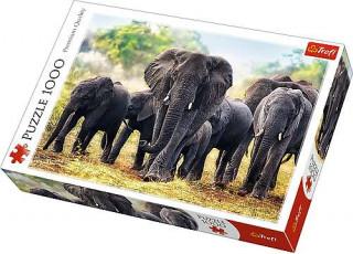 Пазл Африканские слоны, 1000 эл.