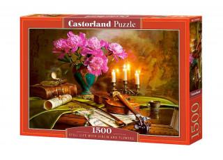 Пазл Натюрморт со скрипкой и цветами, 1500 эл.