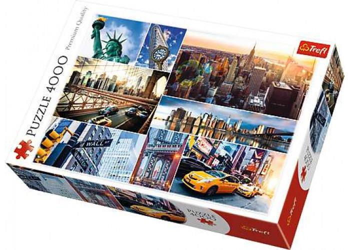 Пазл Нью-Йорк, США, коллаж, 4000 эл.
