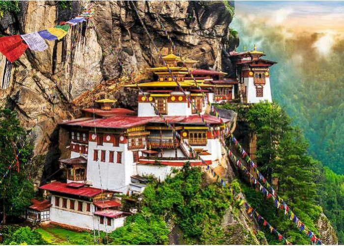 Пазл Гнездо Тигра, Бутан, 2000 эл.