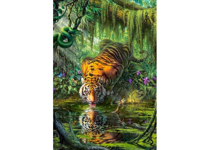 Пазл Тигр в джунглях, 1000 эл.
