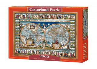 Пазл Карта мира 1639, 2000 эл.