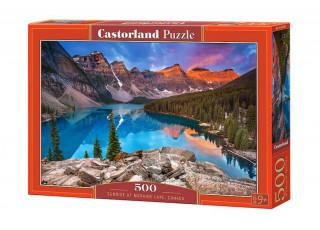 Пазл Закат на озере Морейн, Канада, 500 эл.