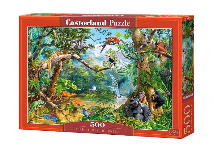 Пазл Скрытая жизнь в джунглях, 500 эл.