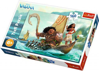 Пазл Моана на волнах, Моана и Мауи, 160 эл.