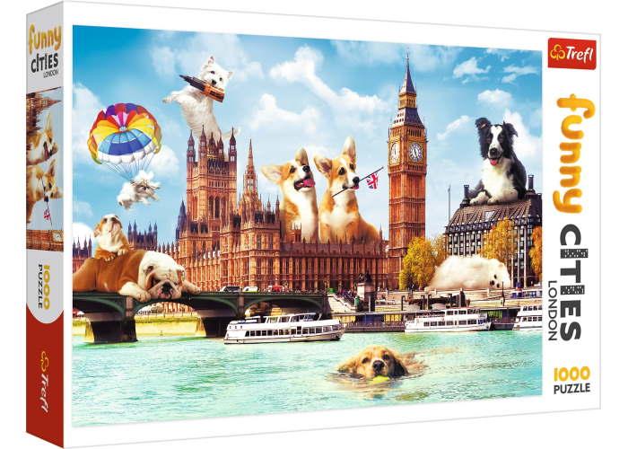 Пазл Собаки в Лондоне, Веселые города, 1000 эл.