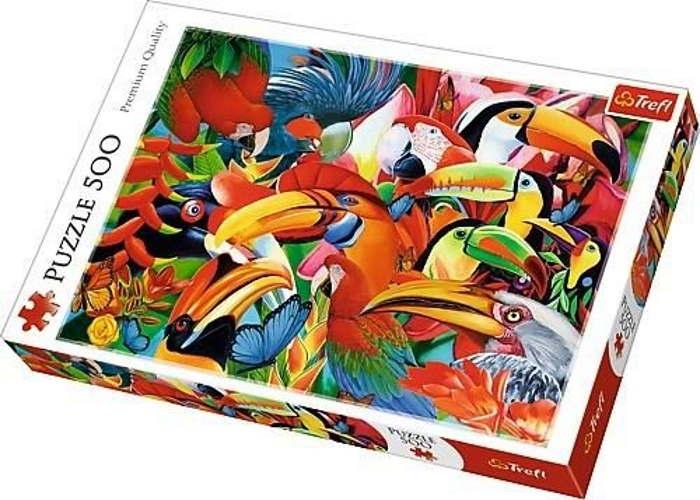 Пазл Разноцветные птицы, 500 эл.