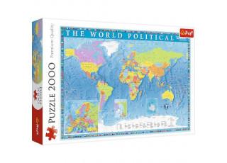 Пазл Политическая карта мира, 2000 эл.