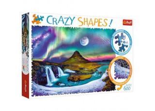 Пазл Crazy Shapes Северное сияние над Исландией, 600 эл.