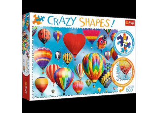 Пазл Crazy Shapes Цветные воздушные шары, 600 эл.