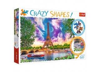 Пазл Crazy Shapes Небо над Парижем, 600 эл.
