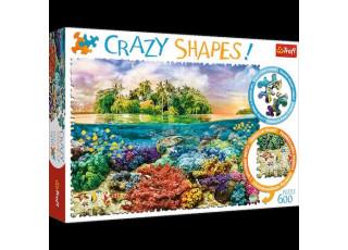 Пазл Crazy Shapes Тропический остров, 600 эл.