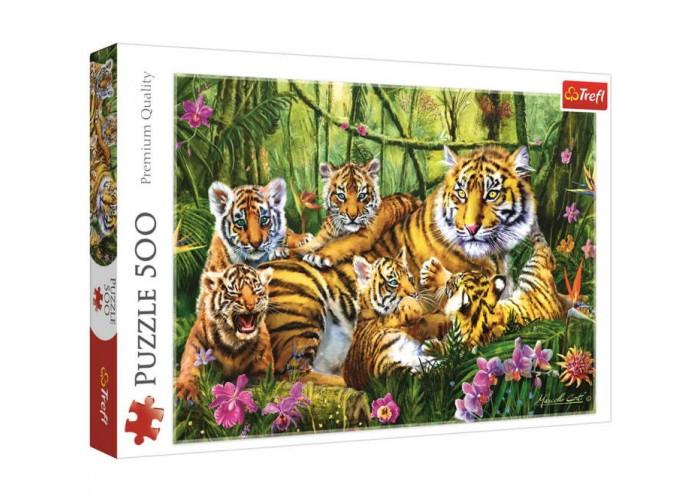 Пазл Семья тигров, 500 эл.