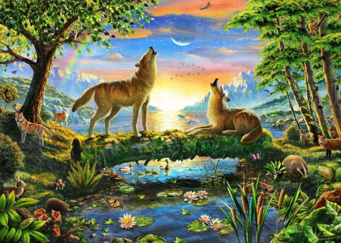 Пазл Волчья натура, 500 эл.