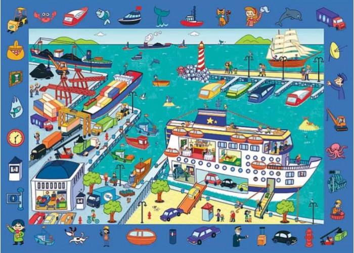 Пазл обучающий Observation Экскурсия в порт, 70 эл. + плакат