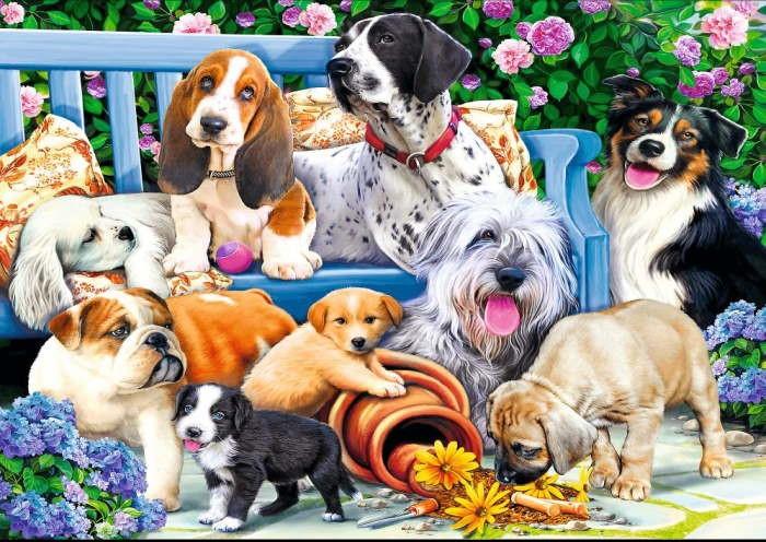 Пазл Собаки в саду, 1000 эл.