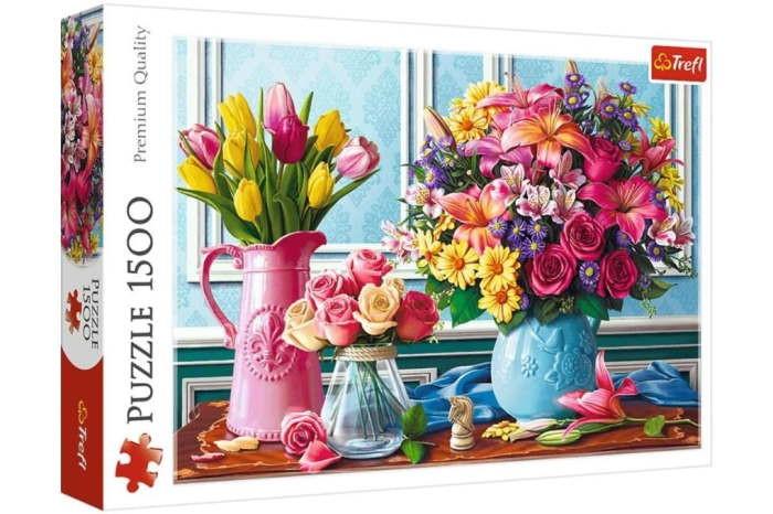 Пазл Цветы в вазах, 1500 эл.