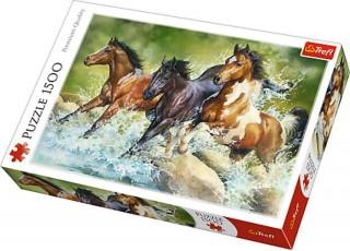 Пазл Три диких коня, 1500 эл.